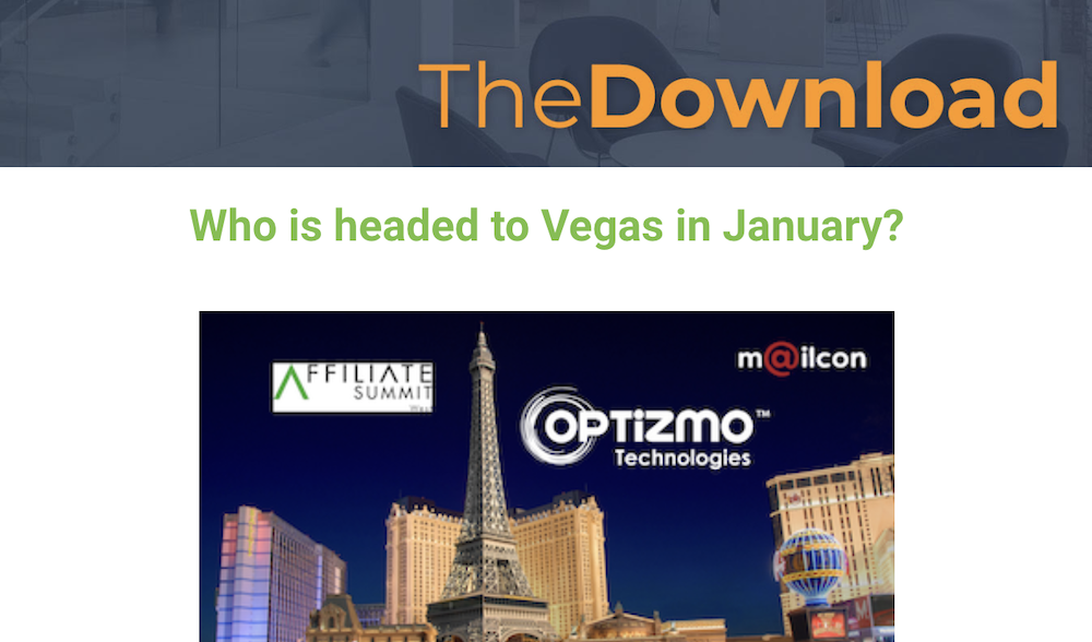 OPTIZMO – November 2018 News – Ready for Vegas?