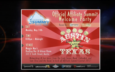 Affiliate Summit – Austin 2012 – Welcome Party